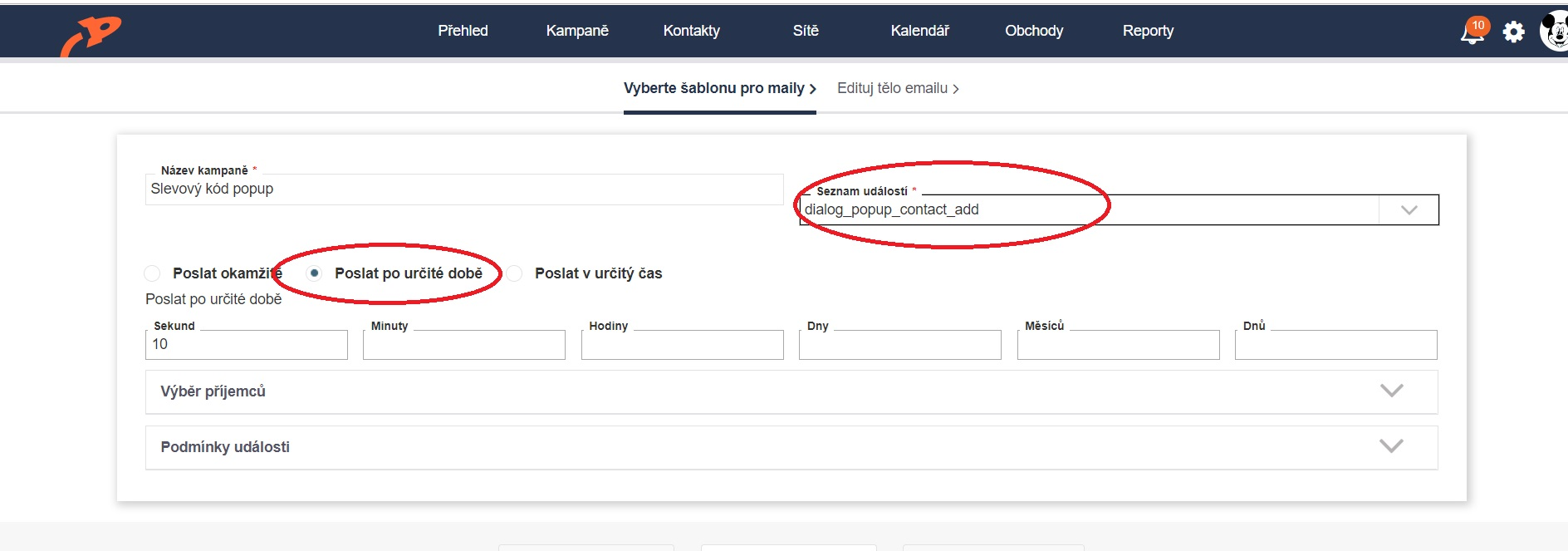 Emailová automatizace 2