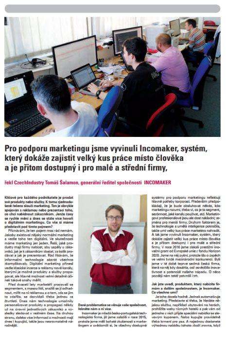 CzechIndustry 3/2017 - rozhovor s Tomášem Šalamonem